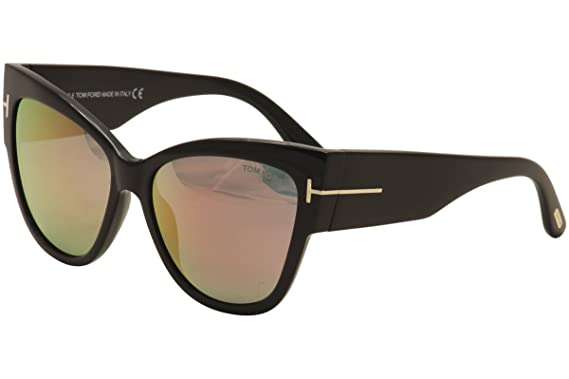 e8f62f920820 Sunglasses Tom Ford FT 0371 Anoushka 01Z shiny black gradient or mirror  violet