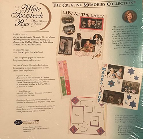 The Creative Memories Collection 12x12 White Scrapbook Pages Refill RCM-12S by Creative Memories