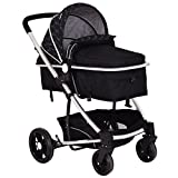 Costzon Baby Stroller 2 in 1 Foldable Infant Buggy Pushchair (Black) Review