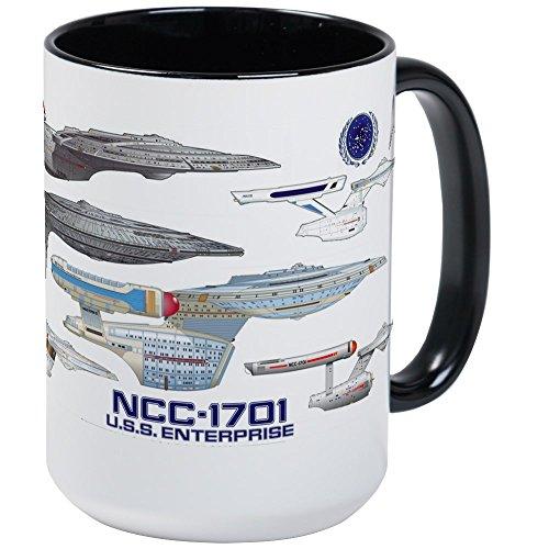 CafePress – U.S.S. Enterprise Lineage Mug Mugs – Coffee Mug, Large 15 oz. White Coffee Cup post thumbnail