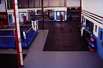 Vulcanized Rubber Flooring Equipment Mats IncStores Premium 3//8in x 4ft x 6ft Rubber Gym Flooring Mats
