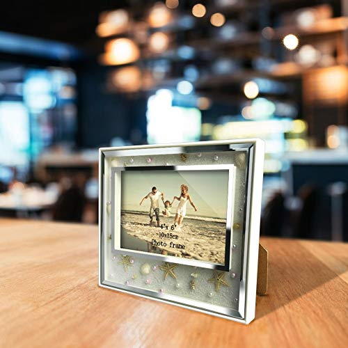 Tequila DS Picture Frame Giftgarden Seaside Style Frames with Starfish and Shells Picture Frame Home Decor Table Ornaments