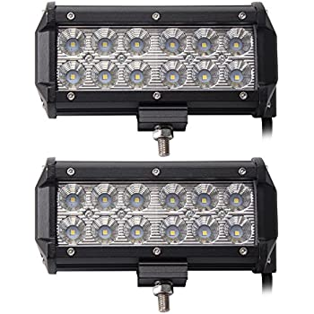 "LED Light Bar, Northpole Light 2x 7"" 36W Waterproof Cree Flood LED Light Bar Work Light, LED Off-road Lights, Driving Fog Light with Mounting Bracket for Off-road, Truck, Car, ATV, SUV, Jeep"