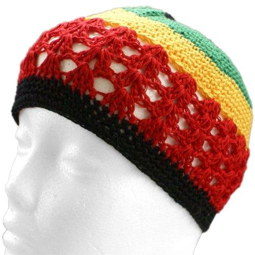 y Cap - Crochet Beanie (Rasta) ()