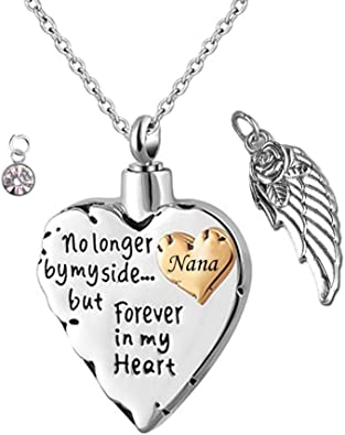 Always in My Heart Memorial Urn Pendant for Loved ones Ashes Holder Keepsake Cremation Jewelry Cremation Urn Necklace for Ashes