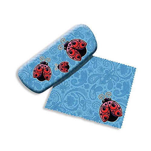 Ladybugs Eyeglass hard storage Case with microfiber cleaning cloth