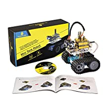 Keyestudio Bluetooth Mini Tank Robot Smart Car Kit Aluminum Frame for Arduino UNO R3