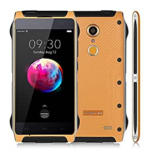 Unlocked Cell Phones,HOMTOM HT20 Fingerprint ID Waterproof Shockproof Smartphone Android 6.0 MT6737 Quad Core Cellphone 2GB+16GB 8MP