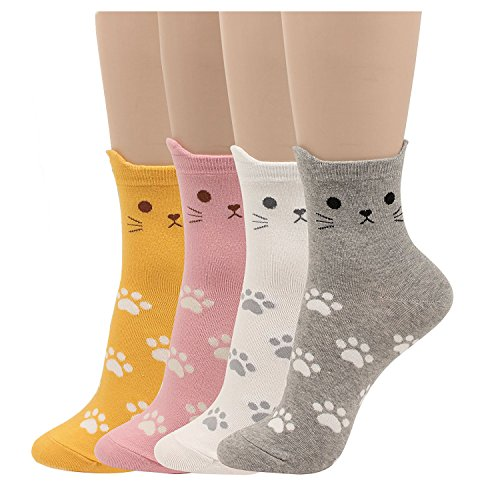 Women's Kitty Cat Paw Socks - Fun Cute Lovely Pattern Good for Gift Cat Lovers