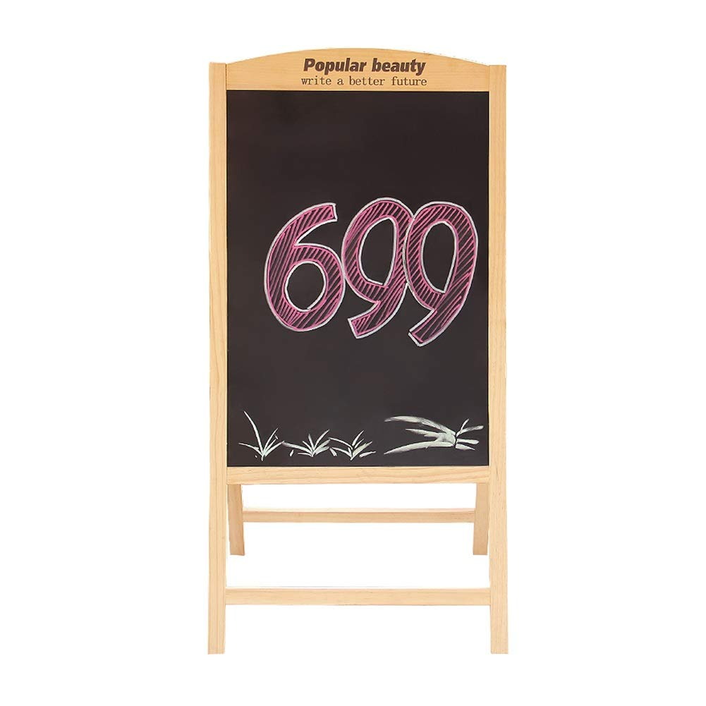 LIANGJUN Message Board Chalkboards Type A Foldable Bracket Type Publicity Board Ad Display Board Household Teaching Shop (Color : A, Size : 60x120cm)