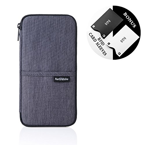 Travel Wallet,Passport Holder with Hand Strap and Zipper-Amazing Travel Wallet that Can Hold all Your Documents, Cards, Visas and More - Sleek Lightweight Design for Easy Organizing Case (Urban Gray) ()
