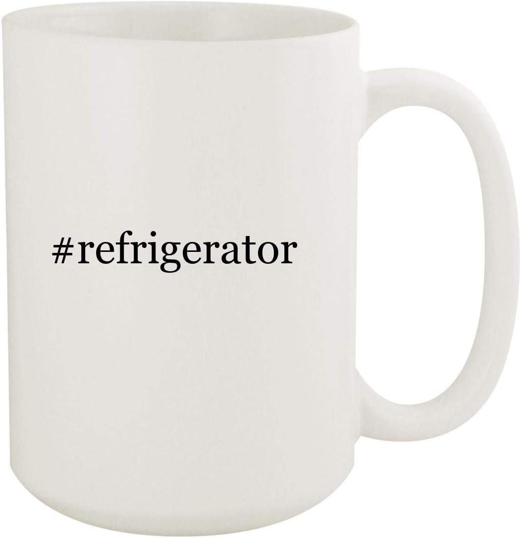 #refrigerator - 15oz Hashtag White Ceramic Coffee Mug