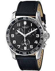 Victorinox Mens 241493 Chrono Classic Analog Display Swiss Quartz Black Watch