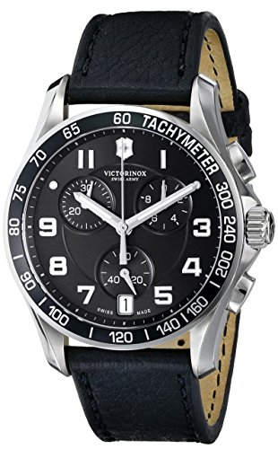 victorinox-mens-241493-chrono-classic-stainless-steel-watch-with-black-leather-band