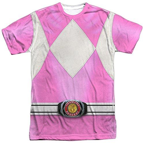 Power Rangers- Pink Ranger Costume Tee (Front/Back) T-Shirt Size (Zordon Power Rangers Costume)