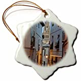 3dRose orn_139145_1 Alleyway and Toledo Cathedral Steeple, Toledo, Spain Eu27 Rti0049 Rob Tilley Snowflake Ornament, Porcelain, 3-Inch