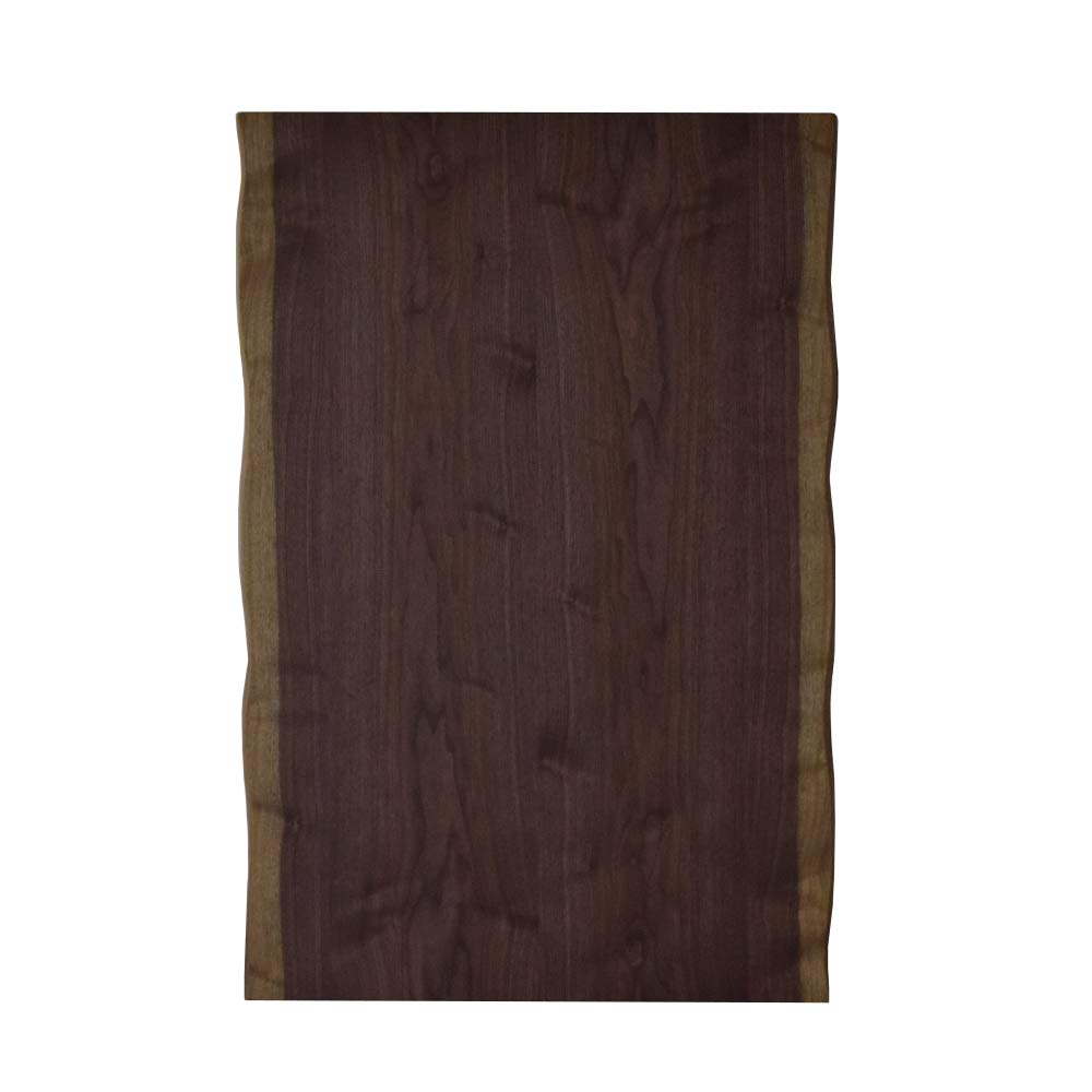 ウォールナット こたつ天板 135cm×85cm 大き目 長方形 皮付き タモ材 欅 こたつ コタツ 波打ったシルエット 高級感のある 天板のみ ブラウン 天板 こたつ天板 白太 耳付き ウォールナットみみ付き テーブル板 国産 日本製 B07SCQYHD8