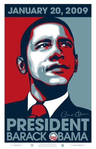 Barack Obama - 2009 Inaugural Poster - Glossy Finish - Futura Paper