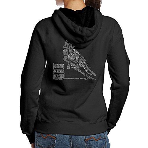 Women Barrel Racing Typography Hoodies Sweatshirts Cool Pullover (Barrel Sweatshirt)