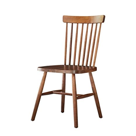 Amazon.com : XJYZ Solid Oak Dining Chairs Office Chair ...
