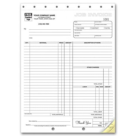 amazon com carbonless job invoices office products