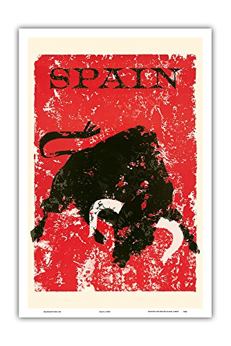 Pacifica Island Art Spain - Spanish Bull Fighting - Vintage World Travel Poster c.1950s - Master Art Print - 12in x 18in by Pacifica Island Art