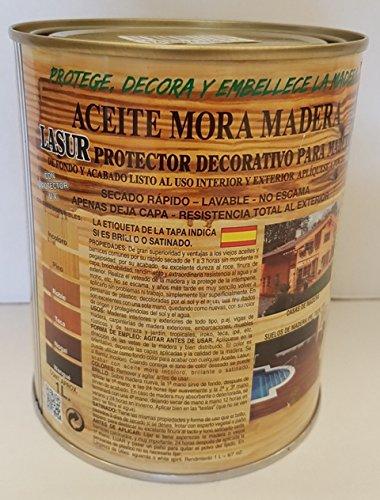 ACEITE MORA MADERA BRILLO INCOLORO 1 L Industrial Mora de Barnices