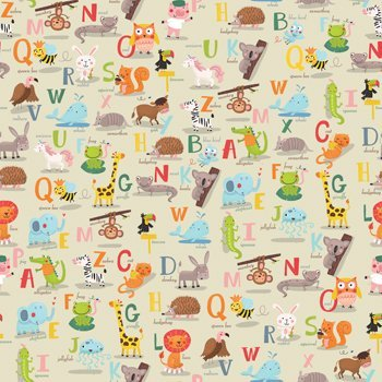 Alphabet Gift Wrapping Paper Flat Sheet - 24