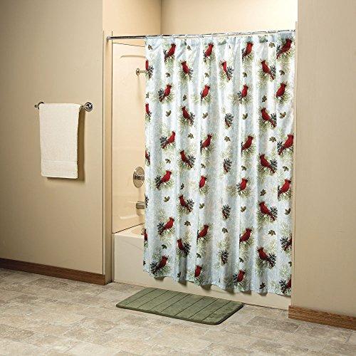 Kitchen Christmas Curtains Amazon Com: Cardinal Shower Curtains