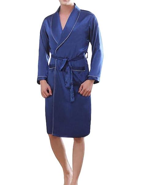 Saoye Fashion Bata De Baño Hombre Bata De Baño Bata De Baño Ropa Hombre Hombre Bata De Seda P: Amazon.es: Ropa y accesorios
