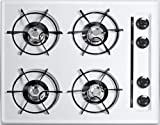 24' Gas Cooktop with Cordless Ignition in White