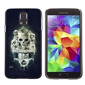 Stuss Case / Funda Carcasa protectora - Pesadilla Tiempo Skulls - Samsung Galaxy S5