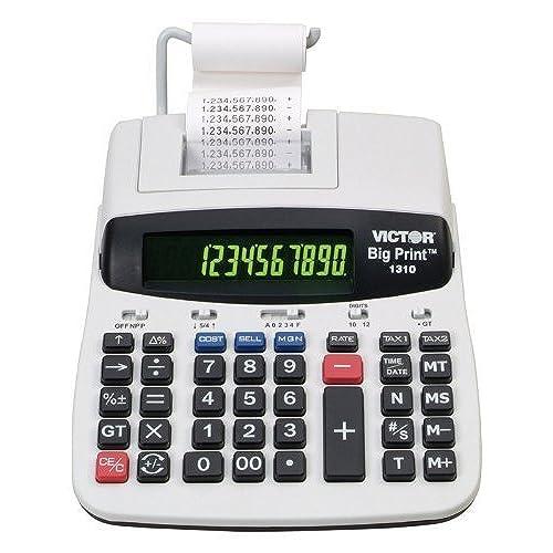 Victor 1310 Big Print Commercial Thermal Printing Calculator, Black Print,  6 Lines/Sec