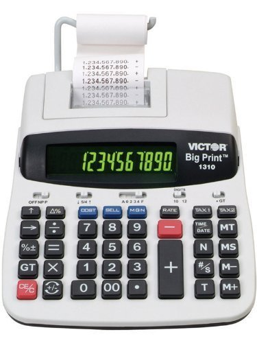 - Victor 1310 Big Print Commercial Thermal Printing Calculator, Black Print, 6 Lines/Sec