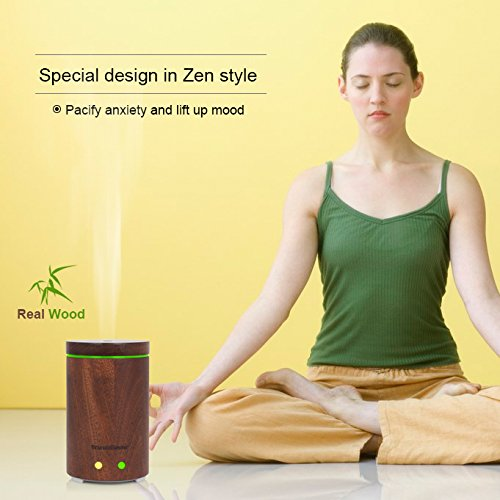 InnoGear Essential Oil Diffuser Ultrasonic Aromatherapy Diffusers with 7 LED Colorful Lights and Waterless Auto Shut off
