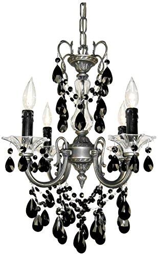 Classic Lighting 57004 RB CBK Via Venteo, Crystal, Mini-Chandelier, 17