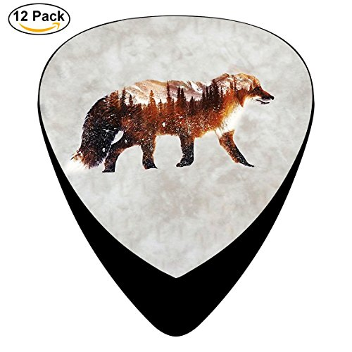 Snow Fox Celluloid Guitar Picks 12 Pack Includes Thin,Medium,Heavy Gauges For Electric Acoustic Guitar