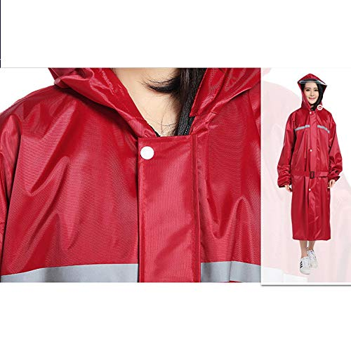 Crimson Color Geyao Dimensione impermeabile impermeabile set adulte all'aperto ispessimento da da moto poncho femminili moto Moda modelli XXL uomo aaqwBrSZ