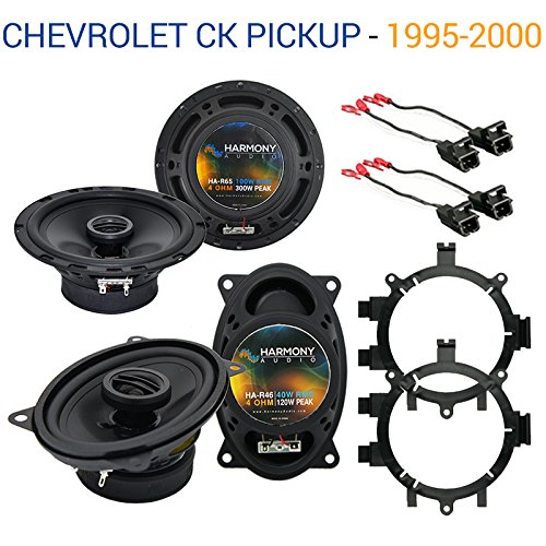 Fits Chevy CK Pickup 1995-2000 Factory Speaker Upgrade Harmony R5 R46 Package New