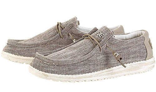 Hey Dude Herren Wally Woven Schuhe Beige