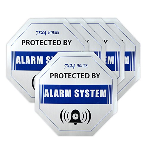 Generic SO001- 5pcs/lot Security Surveillance GSM Alarm System Anti-theft Burglar Waterproof Blue DECALS Warning Sign Sticker