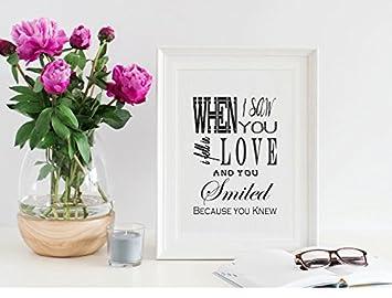 Shakespeare Typografie Bild Print U0026quot;Als Ich Sie Sah Ich Fell In Love U0026  Sie