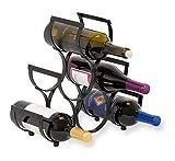 BirdRock Home Wine Rack | Pyramid Wine Stand Holder | 6 Bottles | Black Metal Review