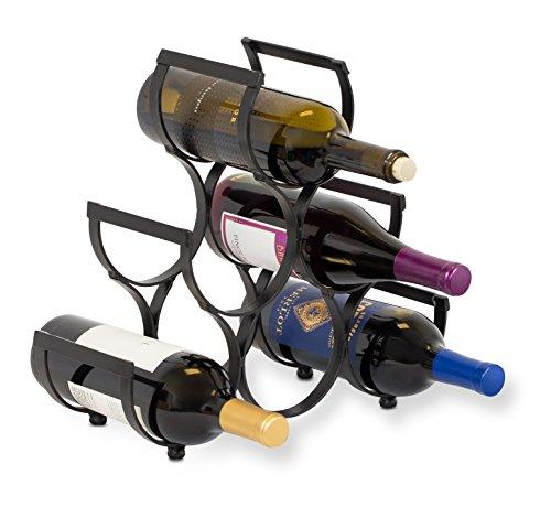 6 bottle countertop wine rack - 9