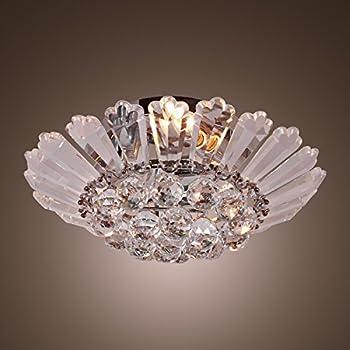 Lightinthebox Modern Semi Flush Mount In Crystal Feature