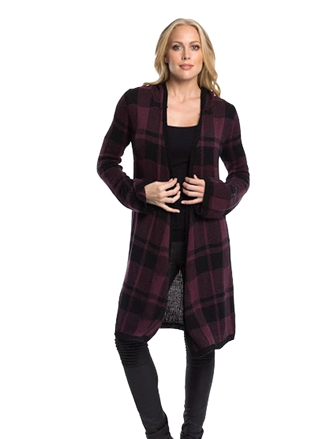 Elan Long Open Front Sweater with Hood