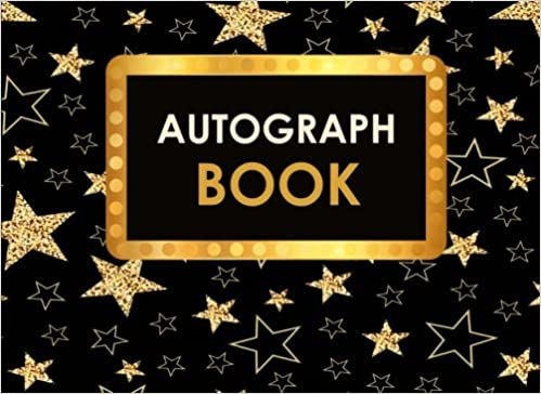 graphic relating to Free Printable Autograph Pages titled Autograph E book: Superstar Autograph Ebook for Older people Children