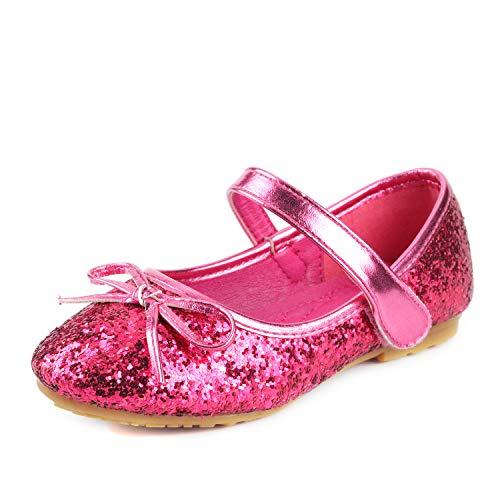 Nova Utopia Toddler Little Girls Ballet Flat Shoes,NF Utopia Girl NFGF312N2 Fuchsia 10
