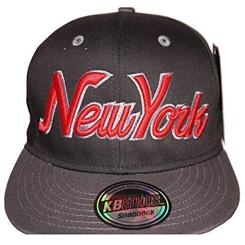 KB Ethos New York gorras con visera plana, Retro Vintage Gorra Visera Plate, Fit