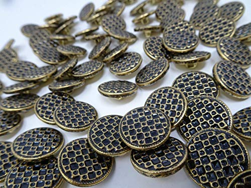 - JumpingLight Vintage Antique Gold Shank Buttons Checker Board Plaid 18mm Lot of 13 B53-5 Perfect for Crafts, Scrap-Booking, Jewelry, Projects, Quilts